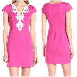 Eliza J NWT Ponte Sheath Embroidered Dress